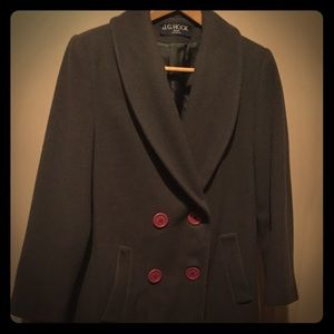 Jackets & Blazers - Calf Length Olive Green Vintage Wool Coat